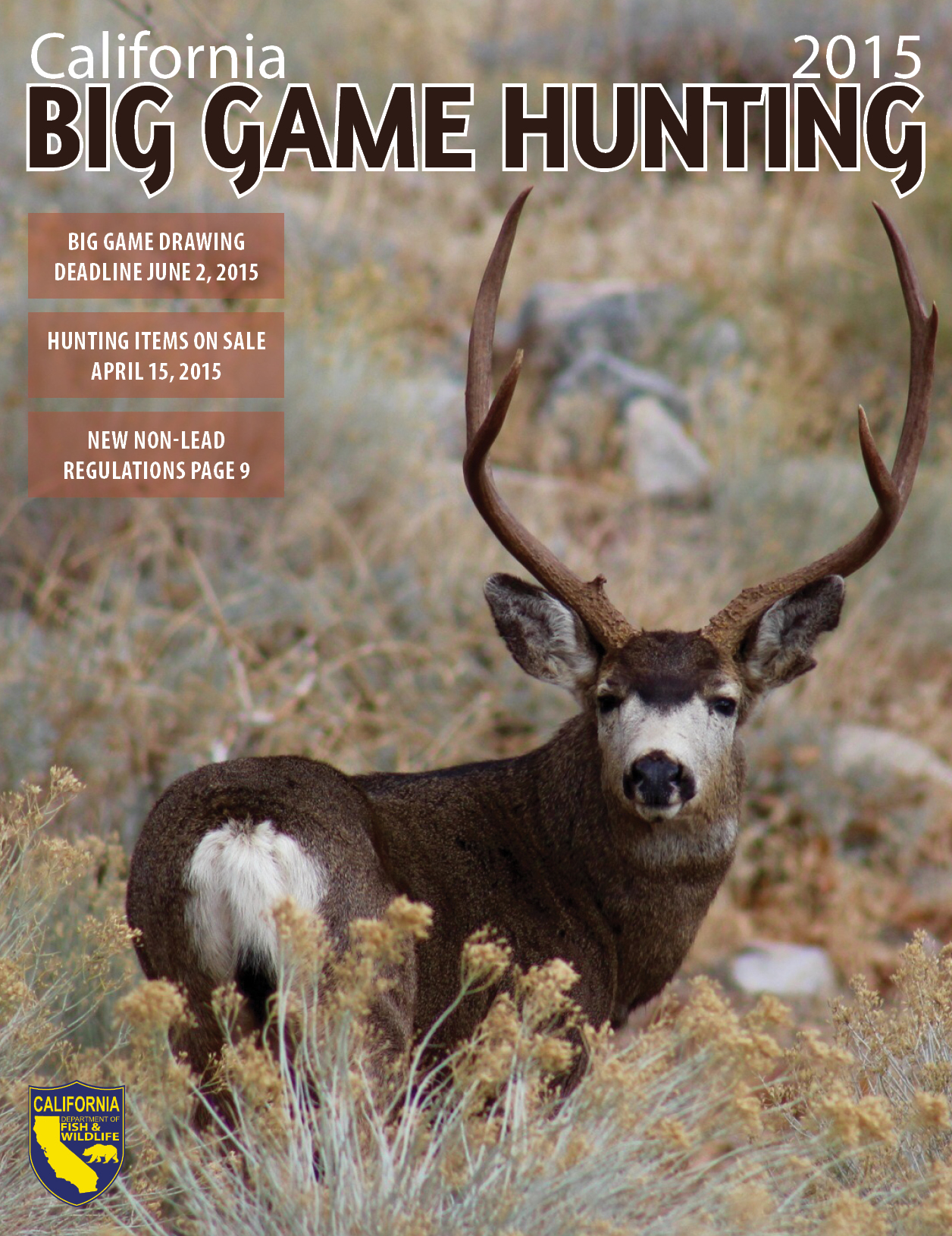 Big game hunting tags california department of fish and for California fishing game