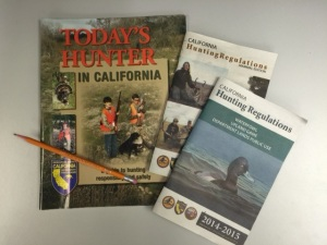 Today's Hunter booklet and regulations booklets