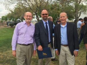 Left to right: California Natural Resources Secretary John Laird, CDFW Senior Environmental Scientist  Scott Gardner and CDFW Chief Deputy Director Kevin Hunting.