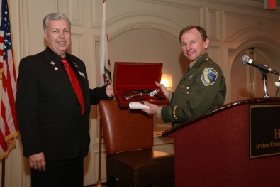 Asst. Chief Roy Griffith is honored by the California Rifle and Pistol Association