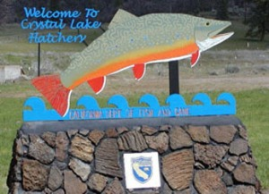 Crystal Lake Hatchery sign