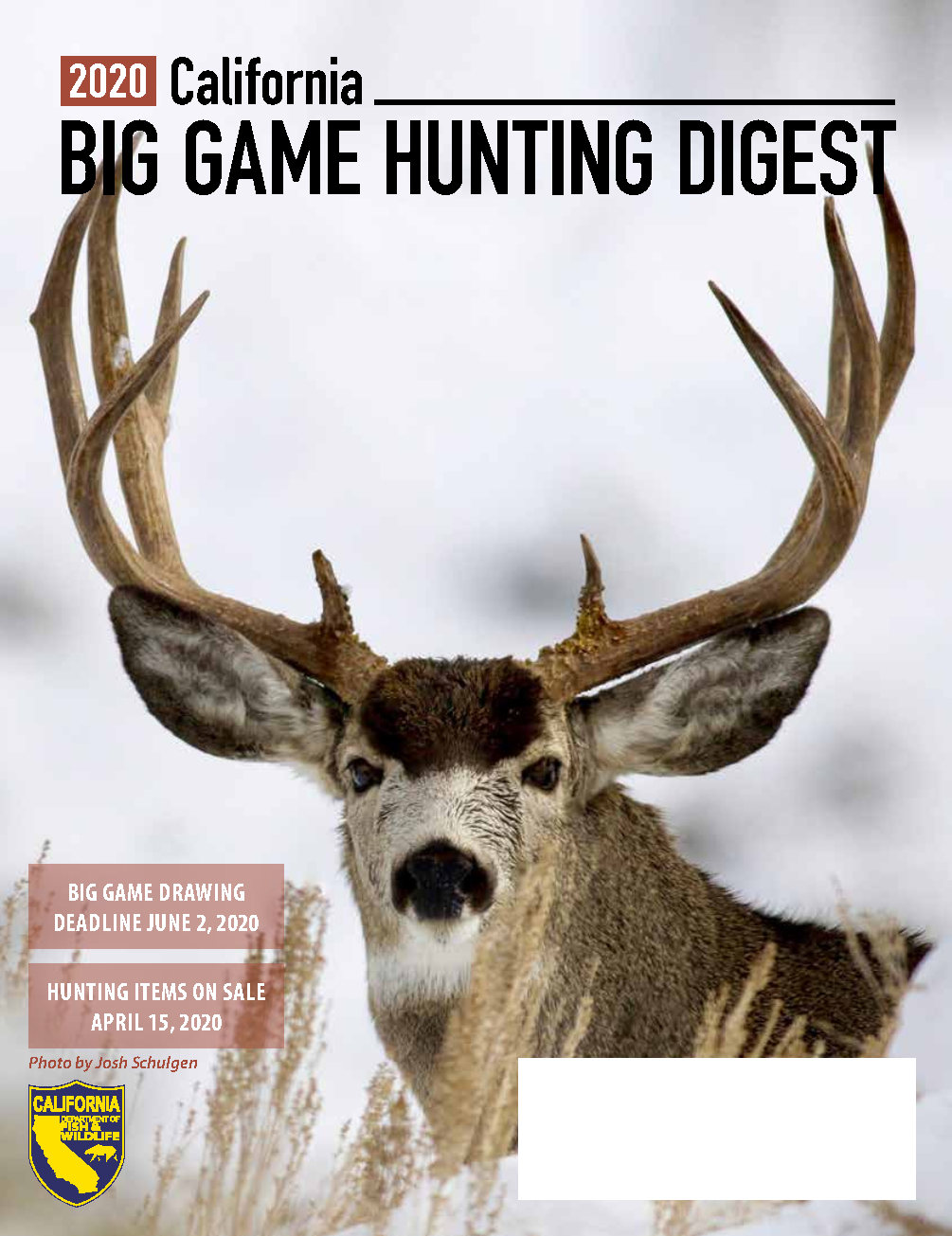2020 California Big Game Hunting Digest cover